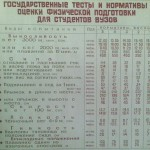 Тесты и нормативы для оценки физической подготовки