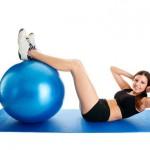 Тренировки с фитболом